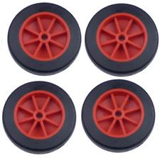 """4 X 73mm (3"""") con ruedas de plástico Rojo Negro Neumático TW73"""