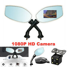 1Pair Universal Motorcycle Rear View Mirror Dual-lens Camera Driving Recorder(Fits: Ducati GT)