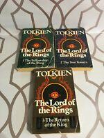 J.R.R. Tolkien The Lord Of The Rings Set ~ Unwin Paperbacks 1974 Vintage TBLO