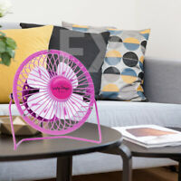 Summer Fruity Colors Portable Mini USB Desk Cool Fan Quiet Metal Desktop PC