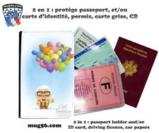 la haut up pixar disney 108 protège carte grise permis passeport passport cover
