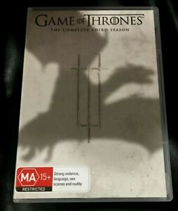 Game Of Thrones : Season 3 (DVD, 2014, 5-Disc Set) Very Good Condition Region 4