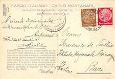 X500) GERMANIA, FASCIO ITALIANO CARLO MONTANARI MONACO DI BAVIERA.
