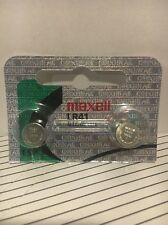 Maxell Lr41 2 Battery Ag3 192 Pack Cell Batteries Button Watch Alkaline New 392