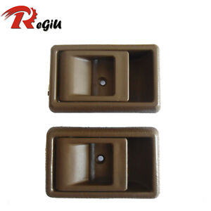 Fit Toyota Tacoma Prizm Tercel Inside Left Right Side Brown Door Handle 95-00