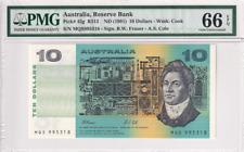 1991 Australia 10 Dollars P-45g PMG 66 EPQ Gem UNC