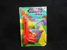 Rare Vintage 60s 70s Elgee Silver Arrow Jet Greenberg Airplane Shooter NOS MOC
