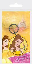 Disney Princess Belle Beauty And The Beast Rubber Keychain Girls Kids Bag Belt O
