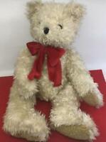 1996 BELKIE  BELK TEDDY BEAR DEPARTMENT STORE  SHAGGY WHITE  PLUSH VINTAGE