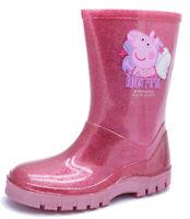 GIRLS KIDS PEPPA PIG PINK FAIRY WELLIES WELLINGTON RAIN SPLASH SCHOOL BOOTS 4-9