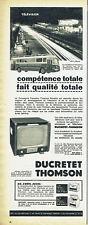 Publicité Advertising 107  1955  Ducretet-Thomson  radio télévision Radiodiffusi