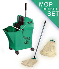 Kentucky Ladybug professional mop bucket set by SYR CW handle and x2 heads GREEN