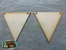 Wooden traditional bunting craft blanks butterfly heart