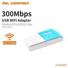 COMFAST 300Mbps USB Wireless Adapter WiFi RTL8192EU Network Dongle 802.11