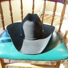 SERRATELLI Black 2X  Cowboy Hat ~ 6  1/2