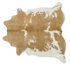 Palomino and White Brazilian Cowhide Rug Cow Hide Area Rugs Leather Size XL