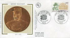 FRANCE FDC - 2966 1 ANDRE MAGINOT - PARIS 9 Septembre 1995 - LUXE sur soie