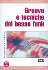 FERRANTE SERGIO GROOVE E TECNICHE DEL BASSO FUNK BASS GUITAR MUSIC MUSIQUE DVD