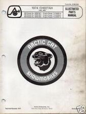 1974 Arctic Cat Snowmobile Cheetah Parts Manual