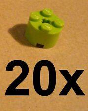 LEGO 20x Stone Round 2x2 Lime (3941) NEW LIMETTE Round Stone Stones Bricks