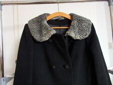 Damen Mantel in Schwarz mit Persian Kragen Gr. 42