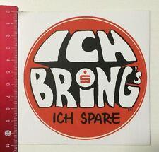 Aufkleber/Sticker: Sparkasse - Ich Bring's Ich Spare (110416176)