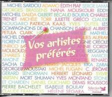COFFRET 6 CD COMPIL 120 TITRES--VOS ARTISTES PREFERES--SARDOU/PIAF/LAMA/KAAS...