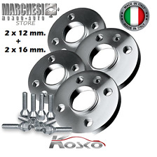KIT 4 DISTANZIALI RUOTE 12+16 MM. FIAT 500 ABARTH 595 DAL 2008-> CON BULLONI