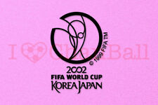 World Cup KOREA JAPAN 2002 Black Polyflex Soccer Patch / Badge