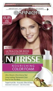 Garnier Nutrisse Nourishing Color Foam Mousse, 6UR Light Ultra Intense Red
