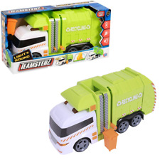 """Teamsterz Large 14"""" Garbage Truck Bin Lorry Light & Sound Recycling Vehicle Toy"""