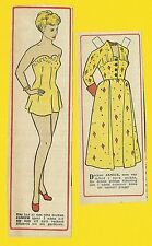 Janice Paige Rare Vintage 1950s Movie Film Star Paper Doll Sweden