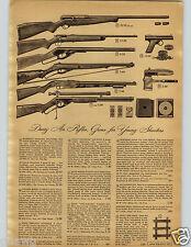 1952 PAPER AD Air Rifle Daisy Mossberg Stevens Defender Gun-N-Scope Benjamin