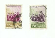 2 x rare South Vietnam stamps elephants. Used in good condition