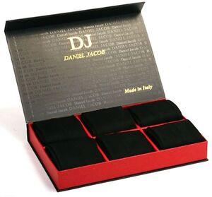 Pack of 12 Pair Men's Black Mid-Calf Socks 100% Cotton in Luxury Gift Box
