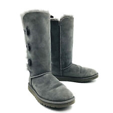 Ugg Australia Bailey Button Triplet Gray Boots Womens Size 8