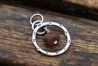 Raw Amber Pendant, Silver Amber Pendant, Baltic Amber Pendant, UK Handmade