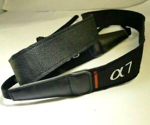 "Sony neck shoulder strap Genuine 1.2"" 3cm wide all black Sony α 7 α7 cameras OEM"
