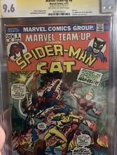 Marvel Team Up # 8 CGC SS STAN LEE 9.6 White (Marvel, 1973) Cat appearance
