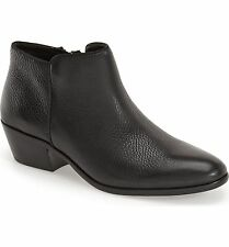 SAM EDELMAN BOOTIES Petty Chelsea Ankle Boots Bootie Black Pebble Leather 9.5W
