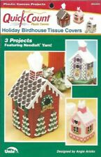 Holiday Birdhouse Tissue Covers in Plastic Canvas 3 Projects Quick Count Uniek