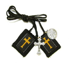 Scapular Crusader Athlete Short Lady Mt Carmel Brown 100% Wool Medal Catholic