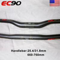 660-760mm Bike Handlebar 3K Carbon 31.8/25.4mm MTB Mountain Bike Flat/Riser Bar