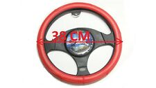 RED STEERING WHEEL COVER( LEATHER LOOK),TOYOTA,SUBARU,SUZUKI,MITSUBISHI,MAZDA,