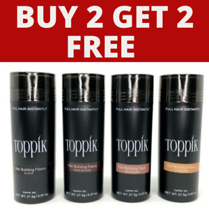 TOPPIK HAIR BUILDING FIBRES 27.5g -  BUY 2 & GET 2 FOR FREE✔ ADD 4 TO BASKET✔