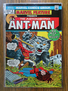 marvel feature presents the astonishing ant-man 9 (marvel may 1973) bronze FINE+