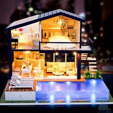 DIY Handgefertigte Miniatur Holz Puppenhaus Mein Kleine Urlaub Villa IN