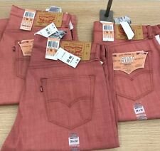"Levi's 501 Men's Jeans,Light Red 36""W X 32""L Brand-New(Rare-Color)"