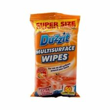 6 x Duzzit Multisurface Jumbo Cleaning Wipes With Orange Oil Packs Of 50 NEW