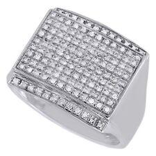 Pave Wedding Fashion Pinky Ring 2.00 Ct 14K White Gold Finish Diamond Mens Round